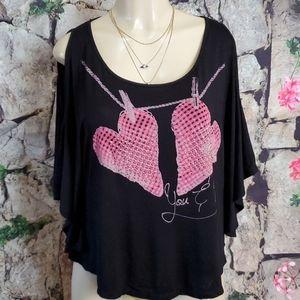 Teenbell Black cold shoulder top size M